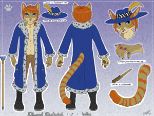 Elwood Flickertail Character Reference Commission by Tacoma.