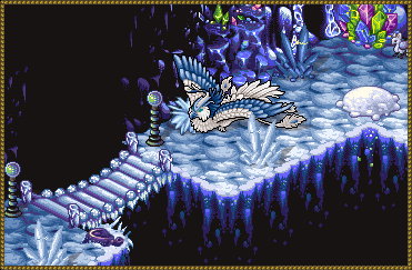 A snowy Phoenix in the Ice Caves