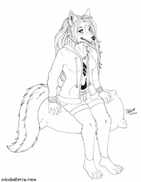 Tobi the Wolf, Sketch by Tacoma.